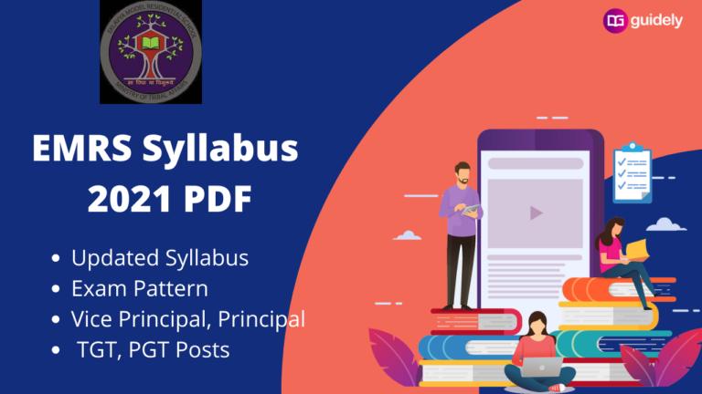 EMRS Syllabus 2021 PDF: Updated, Download TGT, PGT Syllabus And Exam Pattern
