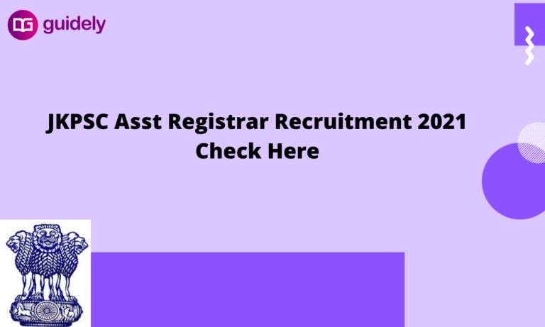 JKPSC Assistant Registrar Recruitment 2021 for Cooperative Societies